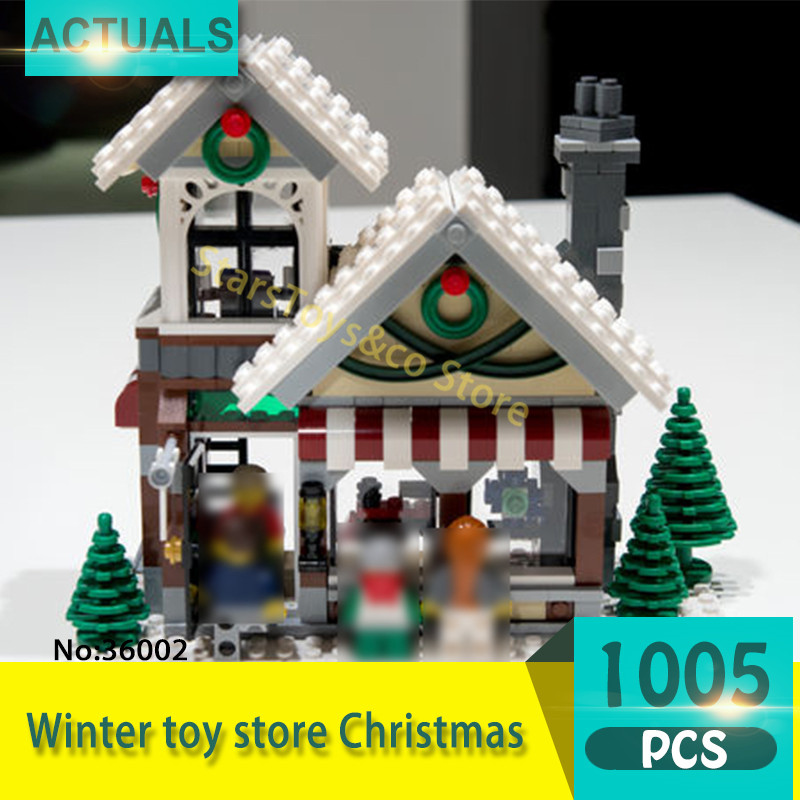 Lepin 36002 1005Pcs Street View series Winter toy store Christmas Model Building Blocks Set Bricks Toys For Children Gift 10249 насадка удлинитель 10см cyberskin минивибратор