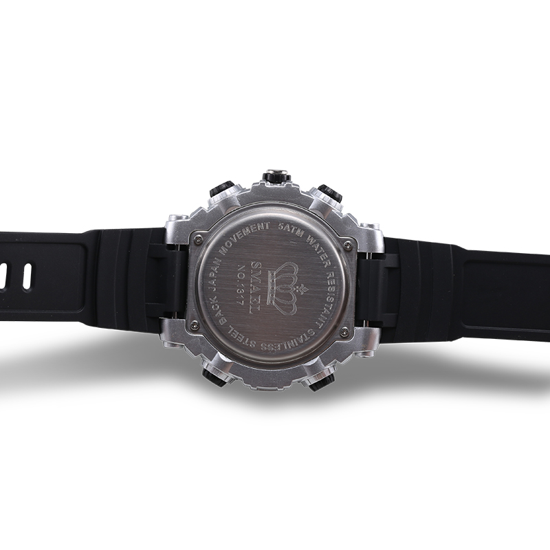 Dual Display Outdoor 50m Waterproof Sports Electronic Watch For Birthday Man Presents Couples Individuality Gift 1317