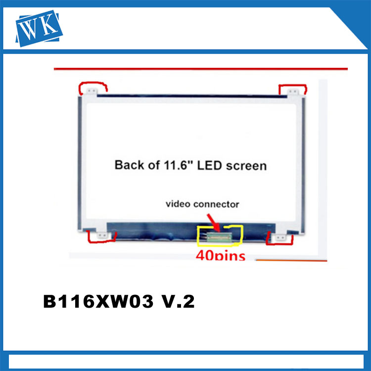 B116XW03 V.2 N116BGE-L41 N116BGE-L42 11.6 HD 1366*768 For Acer Aspire One 722 725 Laptop led display LCD Screen quying laptop lcd screen compatible model nt116whm n10 n116bge l41 n116bge l42 n116bge lb1 b116xw01 v 0 11 6 inch slim 40 pin