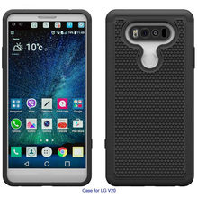 New Hard Soft Rubber Protective Case Cover Impact Armor case Cover Hybrid Rubber+Silicone case For LG V20#P4(China)