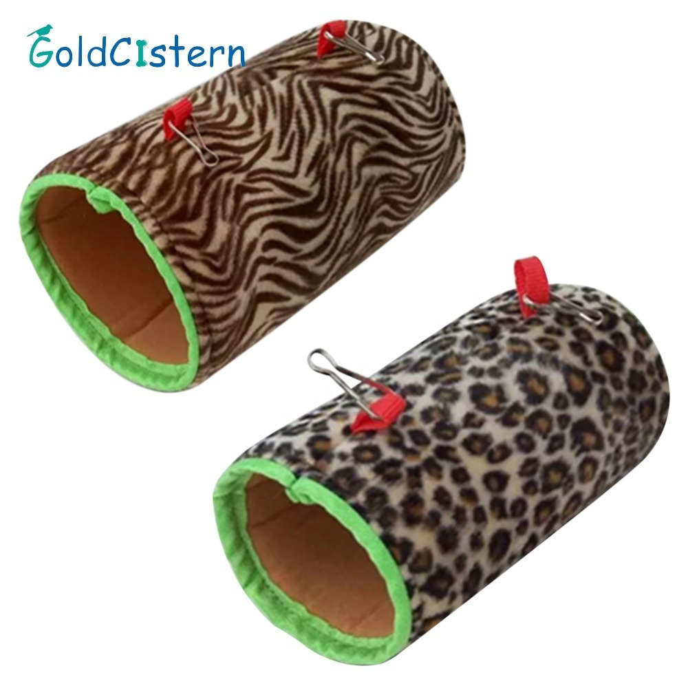 Small Pet Birds Hanging Bed Toy Parrot Squirrel Warm Tunnel Hammock House Swing Nest Shed Rat Hamster Squirrel Bed House