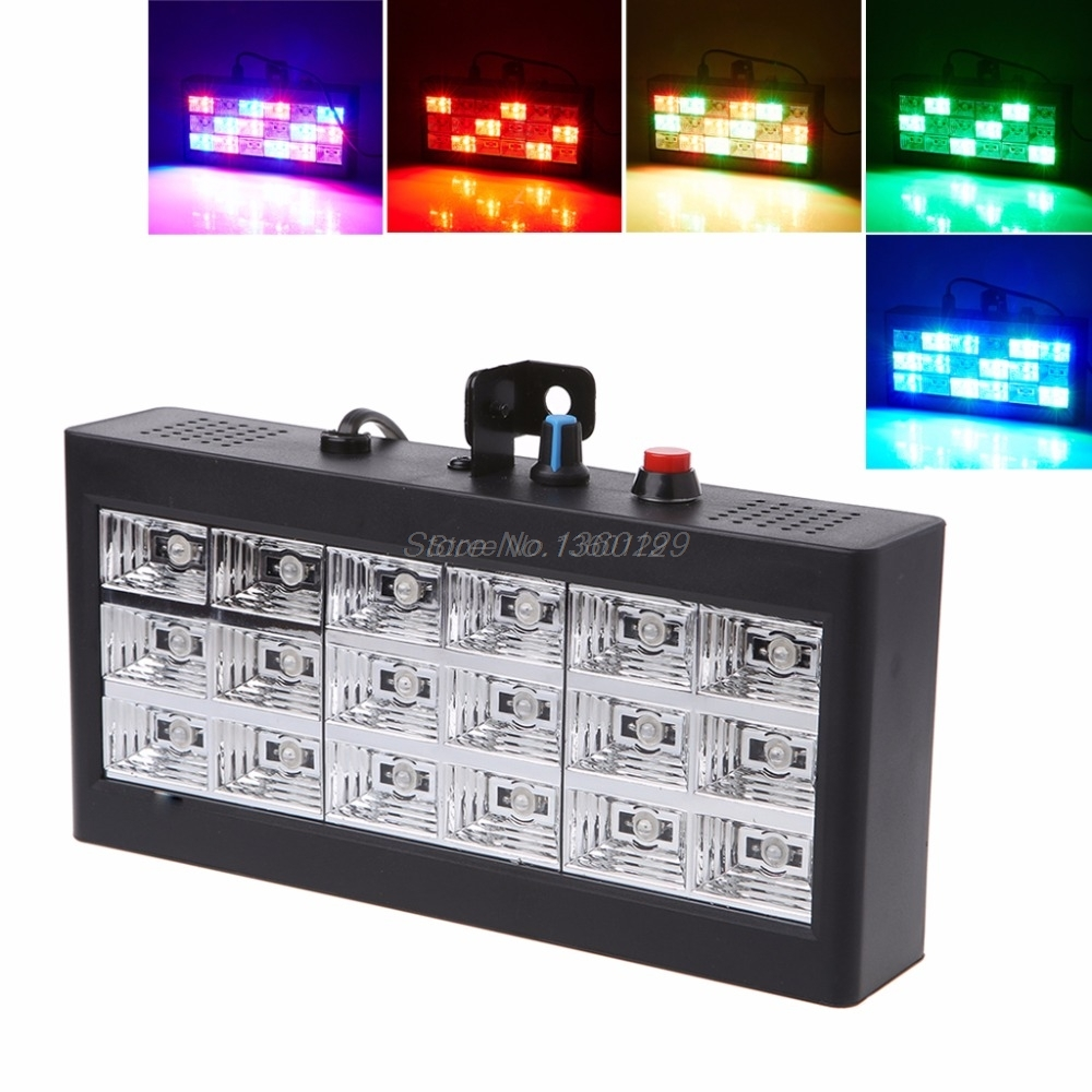 18 LED RGB Light Projector Strobe Light For DJ Club Disco KTV Stage Party Show EU Plug 0-25W Wholesale&DropShip
