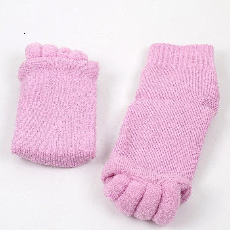 2Pcs/pair Socks Feet Care Open Toe Toe-Seperated Yoga Socks Healthy Fitness Massage Separator