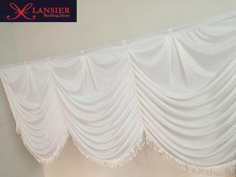 El botín de seda blanco desmontable para el telón de fondo de boda - Para fiestas y celebraciones - foto 3
