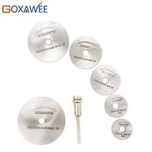 6pcs Cutting Disc for Dremel Rotary Tool Electric Grinding Rotary Blades Cutting Accessories Mandrel Cut-off Circular Saw Tools
