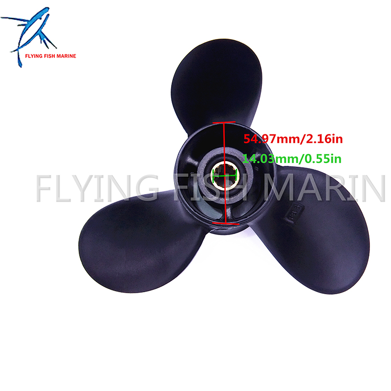 Marine Propeller for Hangkai 2 stroke 9.8hp 12hp outboard Engine Boat Motor