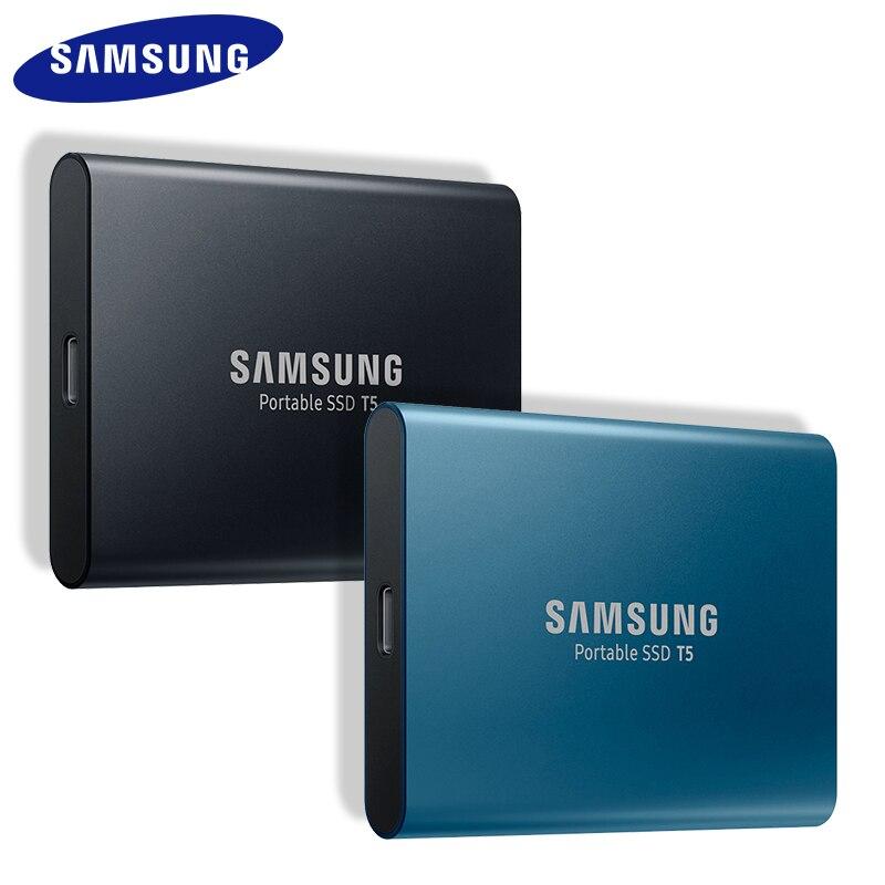 SAMSUNG T5 SSD HDD 250GB 500GB 1TB แบบพกพา Top ภายนอก HD ไดรฟ์ USB 3.1 สำหรับเดสก์ท็อปแล็ปท็อปฮาร์ดไดรฟ์ภายนอก-ใน ไดรฟ์โซลิดสเตทภายนอก จาก คอมพิวเตอร์และออฟฟิศ บน AliExpress - 11.11_สิบเอ็ด สิบเอ็ดวันคนโสด 1
