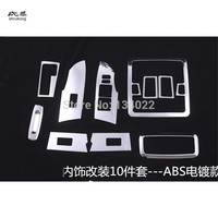 For Toyota corolla 2014 car stickers 9pcs/10pcs/18pcs ABS electroplating Chrome interior decoration sequins