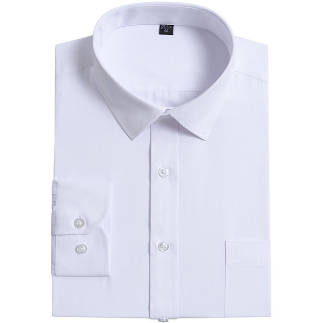 Men's Standard-fit Long Sleeve Solid Basic Dress Shirt Button Closure Classic Design Formal Business Social Work Shirts