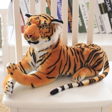30/40/50 cm Simulation Soft  Stuffed Forest Tiger Animals Pillows Plush Educational Toy Dolls For Children Kid Birthday Gift