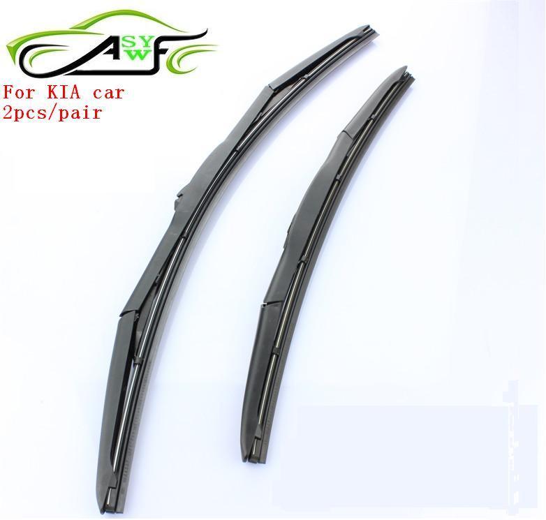 Frete Grátis car windshield wiper blade para kia k2 k5 carnaval cerato sorento forte todos, Borracha Natural Car Wiper, AUTO SOFT