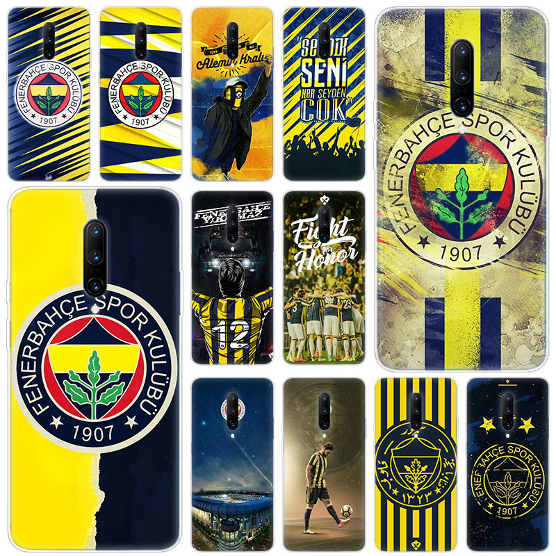 Hot Fenerbahce Soft Silicone Fashion Transparent Case For font b OnePlus b font font b 7