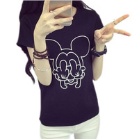Kawaii Clothes Mickey T Shirt Women Tee Shirt Femme 2016 Womens Short Sleeve Tops Tshirt Woman