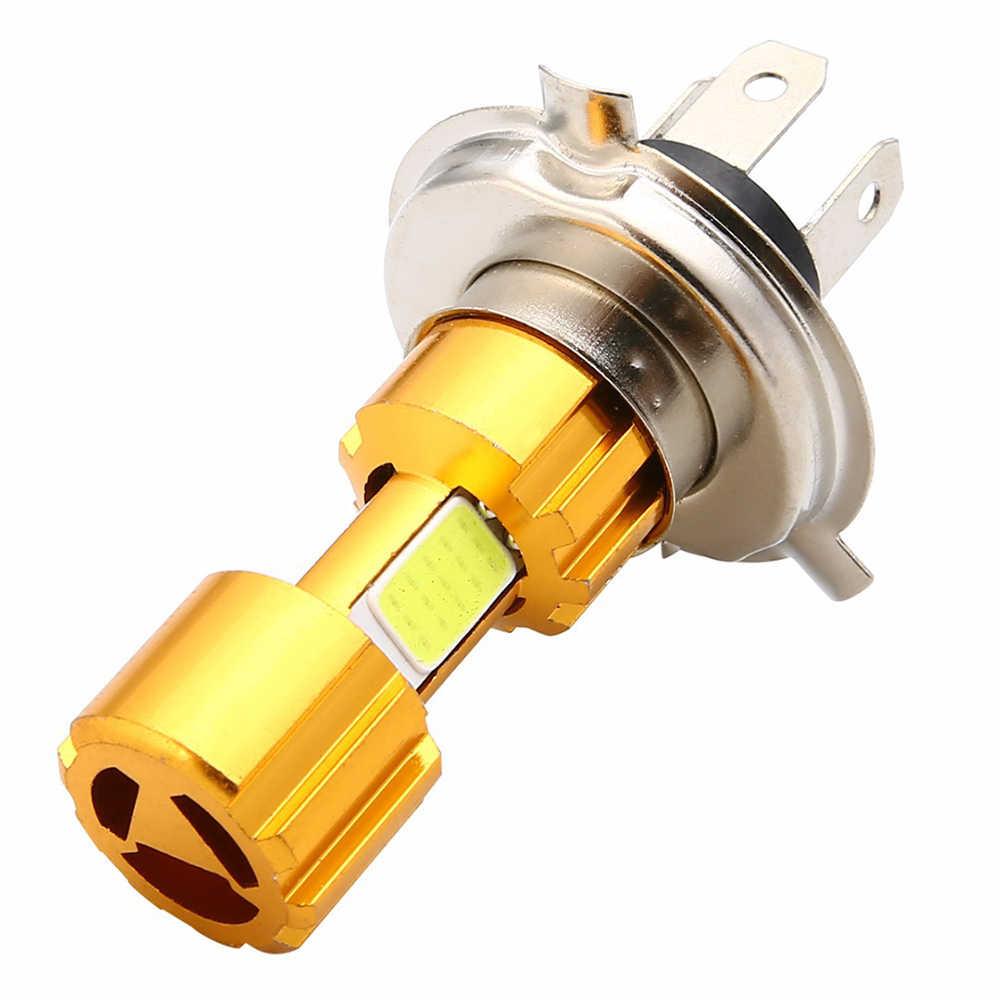 オートバイ LED ヘッドライト H4 18 ワット LED 3 Cob ヘッドライト電球 1500LM 6500 18K ハイ/ロービームライト白 atv モトバイクアクセサリー