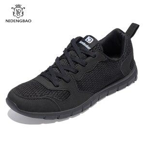 Image 5 - NIDENGBAO Men Casual Shoes Thick Comfortable Mesh Shoes Men Walking Footwear Lightweight Male Sneakers Plus Big Size 47 48 49 50