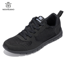 NIDENGBAO Men Casual Shoes Thick Comfortable Mesh Shoes Men Walking Footwear Lightweight Male Sneakers Plus Big Size 47 48 49 50