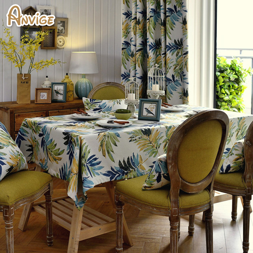 The Tropical Style Printed Blackout Curtains For Living Room Thickness Cloth Window Treatment Customize Home