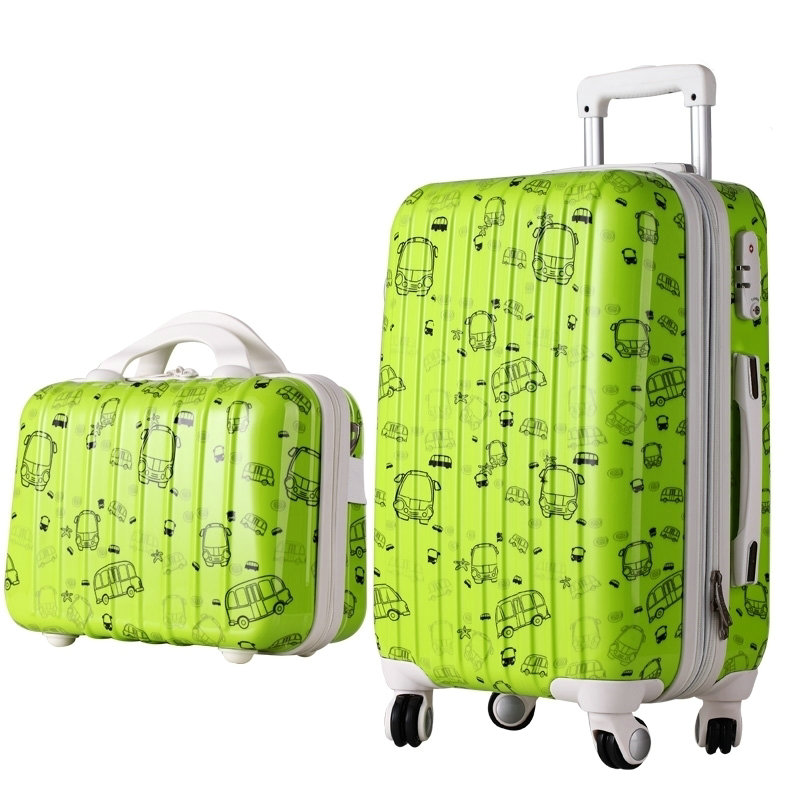 New Women Fashion Travel Suitcase&Girls Luggage Sets, Universal Wheels Trolley Luggage Travel Bags 20 24 28 Rolling Luggage wholesale 14 20 24 28inches pc butterfly travel luggage sets 4 pieces universal wheels trolley luggage sets for women