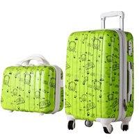 New Women Fashion Travel Suitcase&Girls Luggage Sets, Universal Wheels Trolley Luggage Travel Bags 20 24 28 Rolling Luggage