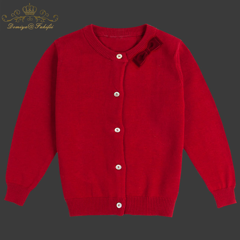 2018 Brand Fashion Baby Children Clothing Boys Girl Button Red Knitted Cardigan Sweater Kid Spring Autumn Outerwear Clothing girl sweater knitted baby clothing 2018 winter children rhinestone sweater for girl yellow cardigan outerwear kid knitwear 2 10y page 3