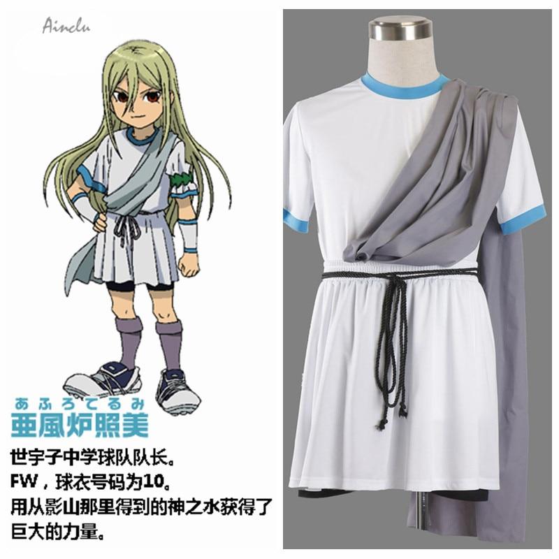 Ainclu Free Shipping Inazuma Eleven Anime Zeus Junior High School Costume Jersey Halloween Cosplay Tailor-made/Customize