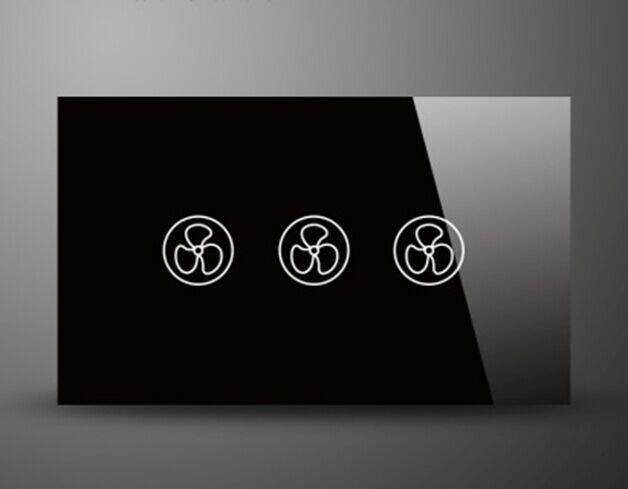 Стандарт США 3 Скоростной Режим Корпус Сенсорный Скорость Вентилятора Выключатель Высокое Качество PC back Zmlink Умный Дом
