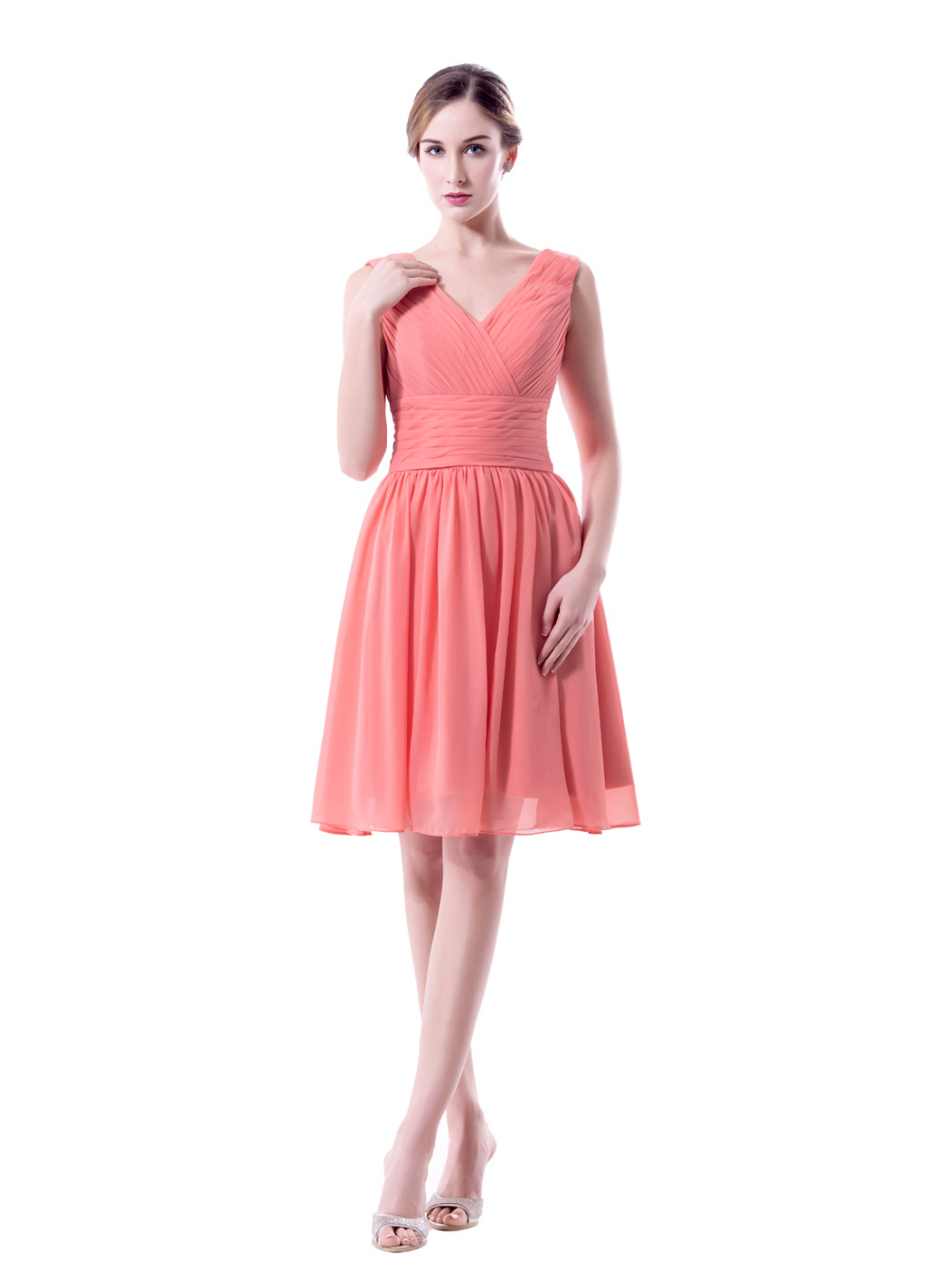 2017 New Hot Selling Hot Pink Short Bridesmaid Dresses Cheap Simple ...