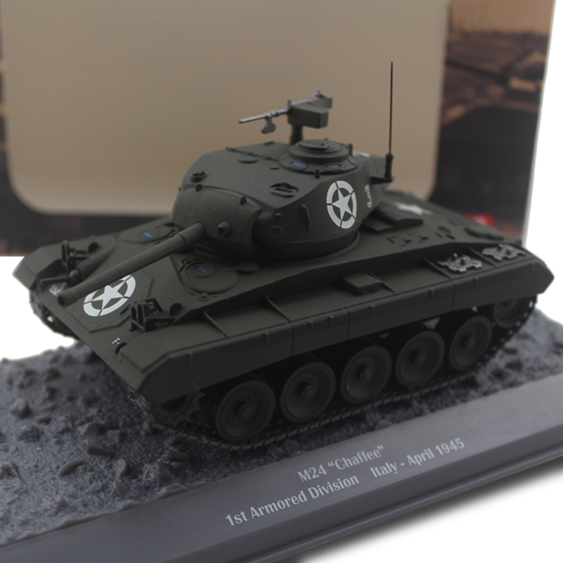 1/43 World War II M24 Chaffee light tank alloy finished product model : 91lifestyle