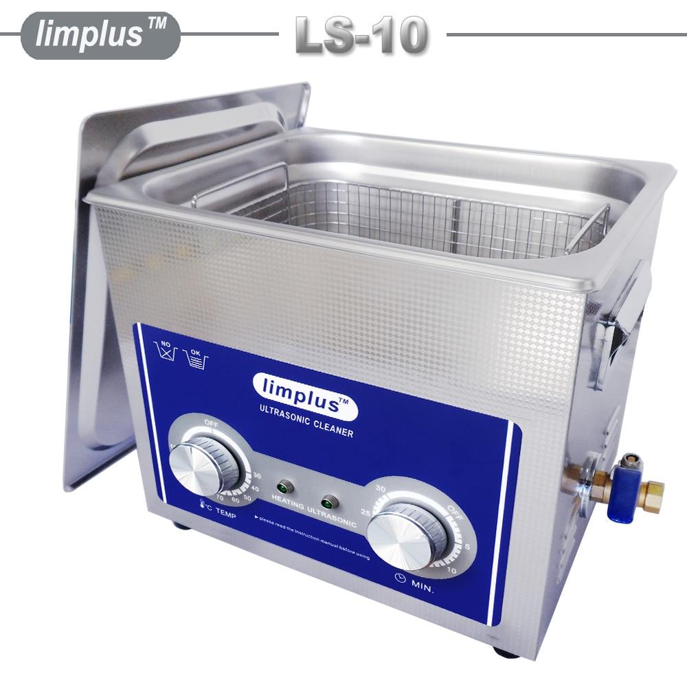 Limplus 10L Ultrasone Reiniger 200 W Mechanische Knop Timer en Heater Ultrasound Machine Roestoplosser Machine Inkt Cleaner