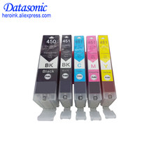 5 pcs untuk CANNON PGI i450 CLI451 XL kartrid tinta kompatibel untuk Canon ip7240 MX924 IX6840 IP8740 IX6540 printer cartridge(China)