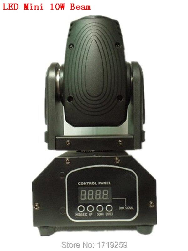 ФОТО 2pcs/lot Fast shipping Mini LED 10W RGBW Beam Moving Head Light Beam High Power Light with Professional for Party KTV Disco DJ