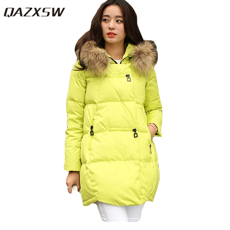 QAZXSW New Winter Cotton Coat Hooded Padded Women Parkas Mujer Invierno 2017 Winter Jacket Women Warm Casacos Femininos HB221 qazxsw new winter cotton coat hooded padded women parkas mujer invierno 2017 winter jacket women warm casacos femininos hb221
