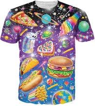 57cfa2698c40a 2018 Lisa Frank Junk Food Men T-Shirt 3d Funny Print T Shirts Casual  Crewneck