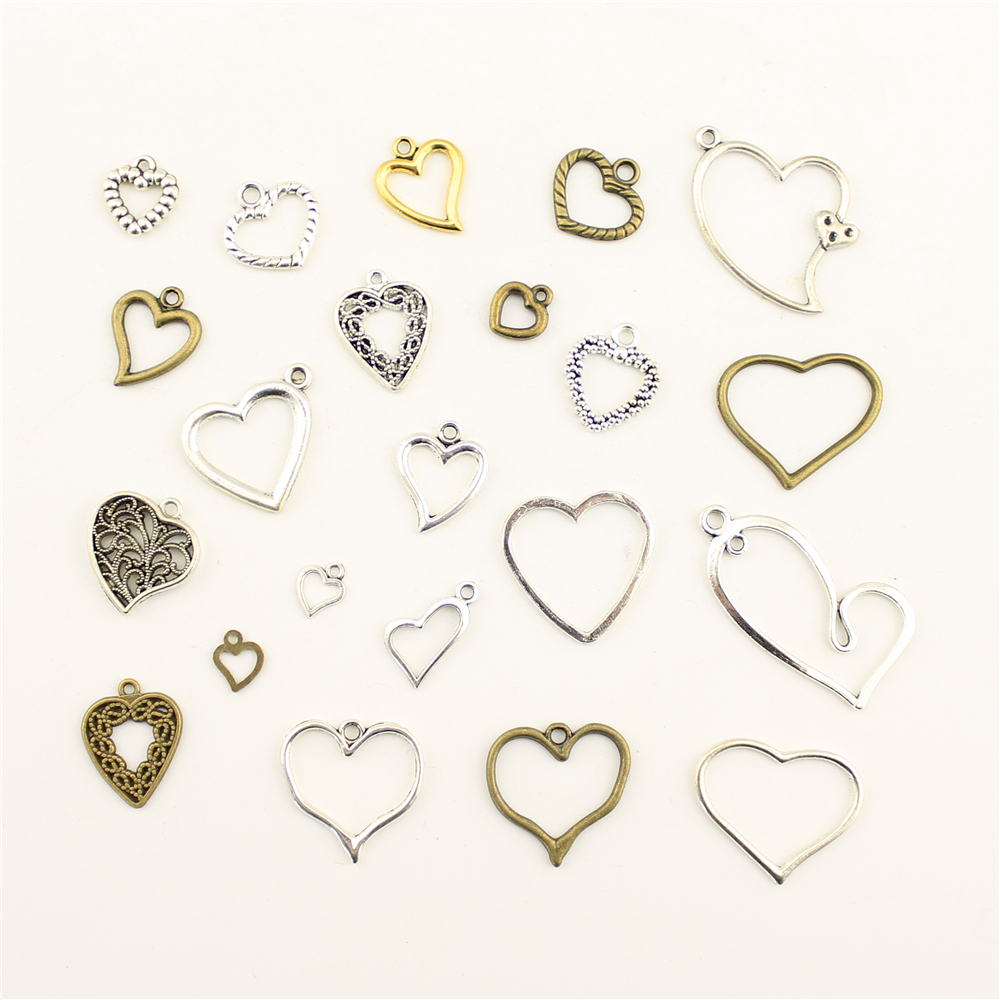 10 pçs encantos para fazer jóias esporádicas pequenas flores pêssego coração acessórios peças criativo artesanal presentes de aniversário