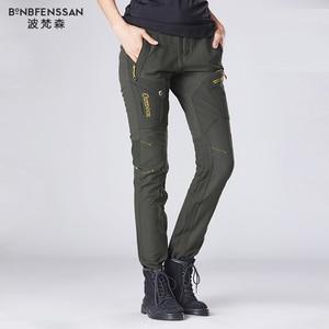 Image 3 - חדש נשים טיולים מכנסיים צמר לעבות מכנסיים חיצוניים עמיד למים Windproof תרמית עבור קמפינג סקי טיפוס טיולים מכנסיים