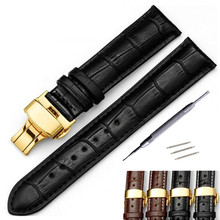 Watchband 18mm 19mm 20mm 21mm 22mm 24mm Soft Calf Genuine Leather Watch Strap Alligator Grain Watch Band for Tissot  For Seiko