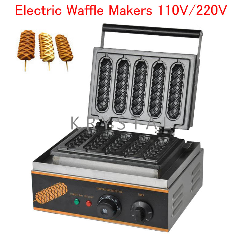 Electric Waffle Makers 110V220V Commercial Waffle Making Machine Waffle Muffin Making Furnace FY-2208