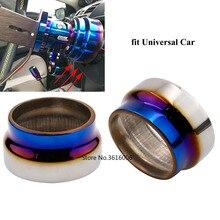 Универсальный автомобильный выгоревший титановый гоночный руль, быстроразъемный адаптер для ступицы, колпачок, крышка для комплекта