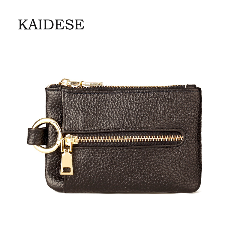 KAIDESE head layer leather carry-on key bag contracted refined change bag stamp