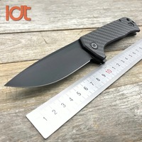 LDT 0804 Tactical Folding Knife CTS 204P Blade Titanium Carbon Fiber Handle Camping Knives Survival Hunting Knife EDC Tools