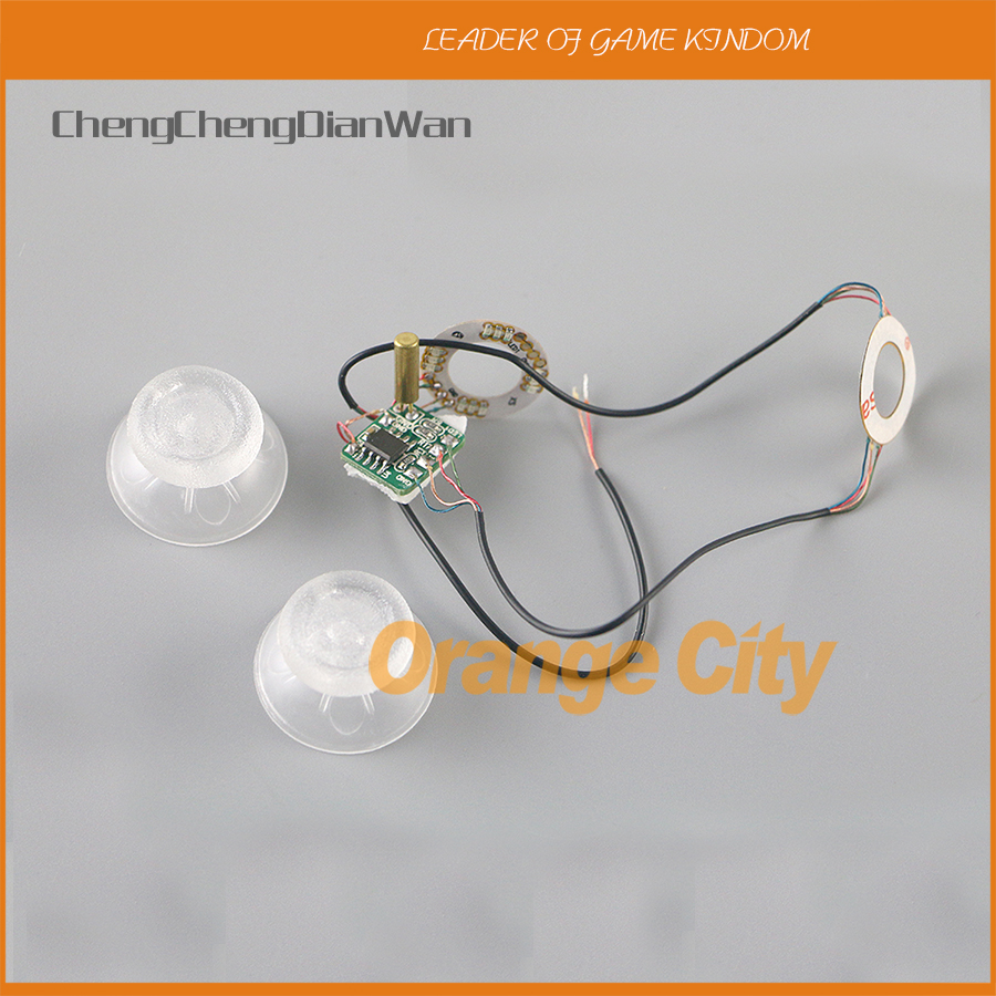 ChengChengDianWan ThumbSticks LED Light Up Mod With Transparent Thumbsticks Cap Set For PS4 And XBOX ONE Controller 10sets/lot
