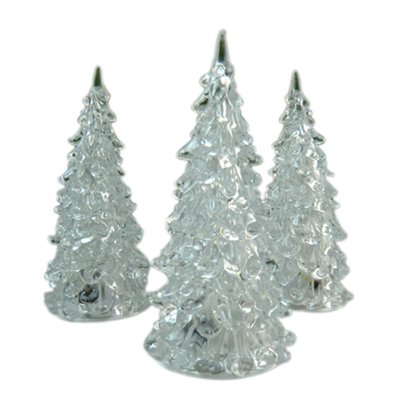 Acrylic Christmas Tree LED Lights Discolour Christmas Lamp For Holidays Accessories GHS99