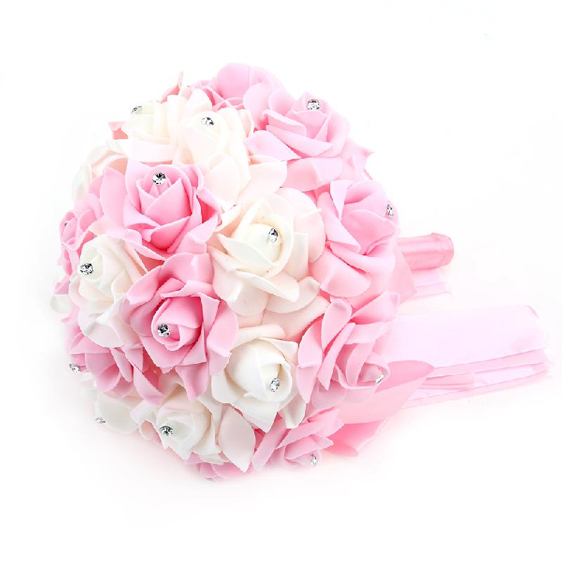 Wedding Holding Flowers Bouquet Artificial Flower Bride
