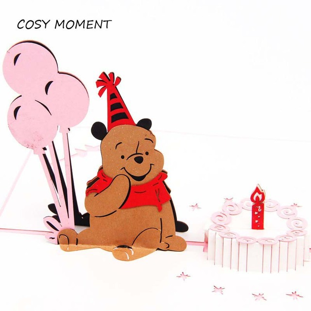 Cosy moment winnie the pooh 3d pop up greeting card postcard cosy moment winnie the pooh 3d pop up greeting card postcard envelope laser cut handmade kid bookmarktalkfo Choice Image