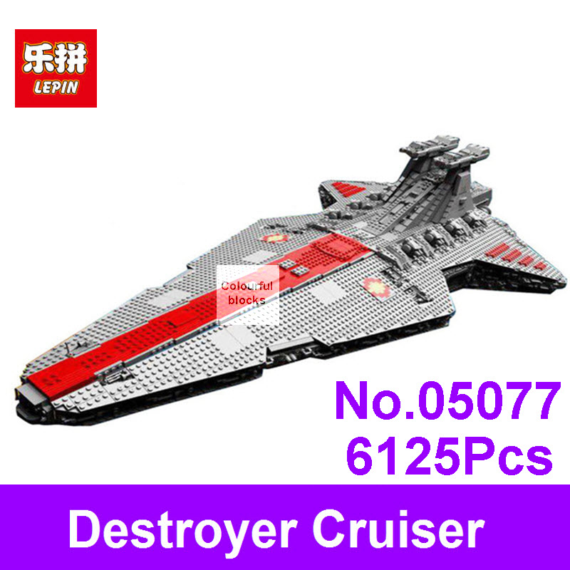 Lepin 05077 6125Pcs Star Series War Genuine The UCS Rupblic Star Set Destroyer Cruiser ST04 Building Blocks Bricks Kids Toy Gift genuine lepin 05077 series the ucs rupblic star destroyer wars cruiser st04 set building blocks bricks educational boy diy toy
