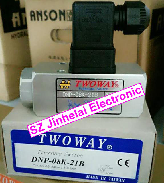 New and original DNP-08K-21B TWOWAY  Pressure switch,  Air pressure relay switch  1.5-8.0 bar  Made in Taiwan new japanese original authentic pressure switch ise3 01 21