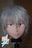 (KM8311) Top Quality Handmade Male Resin Full Head Cosplay Japanese Role Play Accelerator Anime Kigurumi Mask Crossdresser Doll