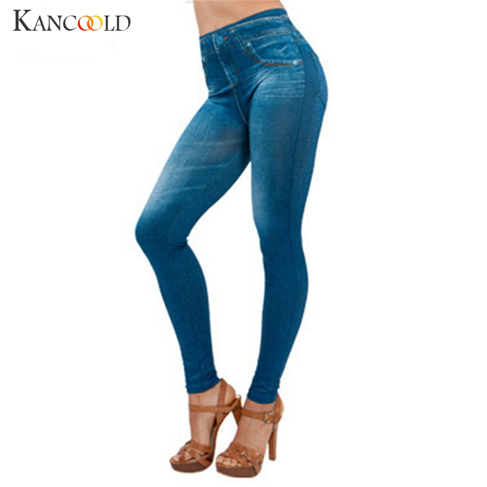 KANCOOLD Jeans Women Denim Pants Pocket Slim Jeans Fitness Plus Size Length Fashion Mid Waist Jeans Woman 2018Oct23
