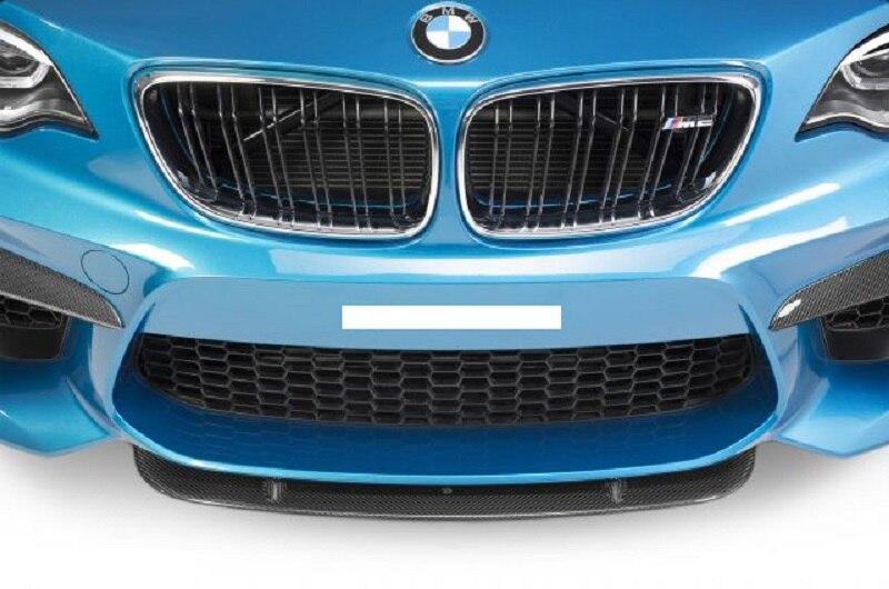 Séparateur avant st-style (pour pare-choc avant réel M2) pour BMW F87 M2 Fibre de carbone brillant Fibre pare-choc Auto sous la garniture de Spoiler