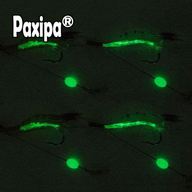 6pcs or 3pcs Shrimp Soft Lure 9cm 5g Fishing Artificial Bait Soft Fishing Lure Luminous Hook Bead Anzois Para Pesca Sabiki Rigs